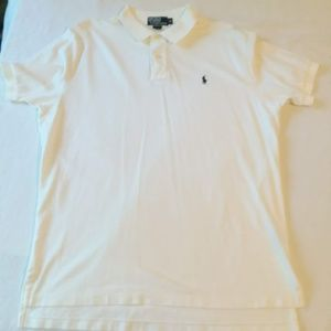 Polo by Ralph Lauren Men's White Polo Size XL